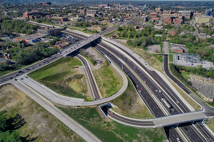 US I-71 Martin Luther King Drive Interchange Cincinnati Ohio | Kokosing Construction Company