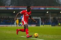 Walsall's Daniel Agyei in action during the Sky Bet League 1 match between Rochdale and Walsall at Spotland Stadium, Rochdale, England on 23 December 2017. Photo by Juel Miah / PRiME Media Images.