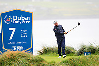 Padraig Harrington (IRL) on the 7th tee during the 3rd round of the Dubai Duty Free Irish Open, Lahinch Golf Club, Lahinch, Co. Clare, Ireland. 06/07/2019<br /> Picture: Golffile | Thos Caffrey<br /> <br /> <br /> All photo usage must carry mandatory copyright credit (© Golffile | Thos Caffrey)