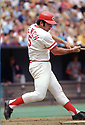 CIRCA 1972  Johnny Bench #5, of the Cincinnati Reds, at bat during  a game from his 1972 season.  Johnny Bench played for 17 seasons, all with the Cincinnati Reds. Johnny Bench was a 14 -time All-Star, 2-time National League MVP and was inducted to the Baseball Hall of Fame in 1989. (Photo by: 1972  SportPics  )  Johnny Bench