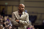 23 MAR 2012: Jacques Curtis, head coach of Shaw University watches first half action against Ashland University during the Division II Womens Basketball Championship held at Bill Greehey Arena in San Antonio, TX.  Shaw University defeated Ashland University 88-82 for the national title.  Rodolfo Gonzalez/ NCAA Photos