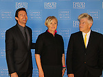 "Actors Hugh Jackman and wife Deborra-Lee Furness are honored as David Lynch Foundation presents ""Change Begins Within"" - a benefit and gala celebrating service of veterans and first responders in New York City hosted by David Lynch and Jerry Seinfeld on December 3, 2013 at the Conrad NYC, New York. (Photo by Sue Coflin/Max Photos)"