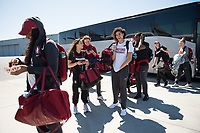 San Jose, CA - March 28, 2017: The Stanford Cardinal prepares for the Final Four 2017 in Dallas, Texas