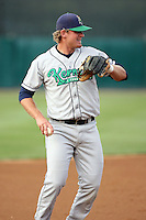 August 15 2008:  Third baseman Jay Brossman (18) of the Cedar Rapids Kernels, Class-A affiliate of the Los Angeles Angels of Anaheim, during a game at Philip B. Elfstrom Stadium in Geneva, IL.  Photo by:  Mike Janes/Four Seam Images