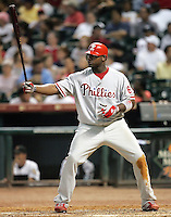 Philadelphia Phillies 1B Ryan Howard on Thursday May 22nd at Minute Maid Park in Houston, Texas. Photo by Andrew Woolley / Four Seam Images.