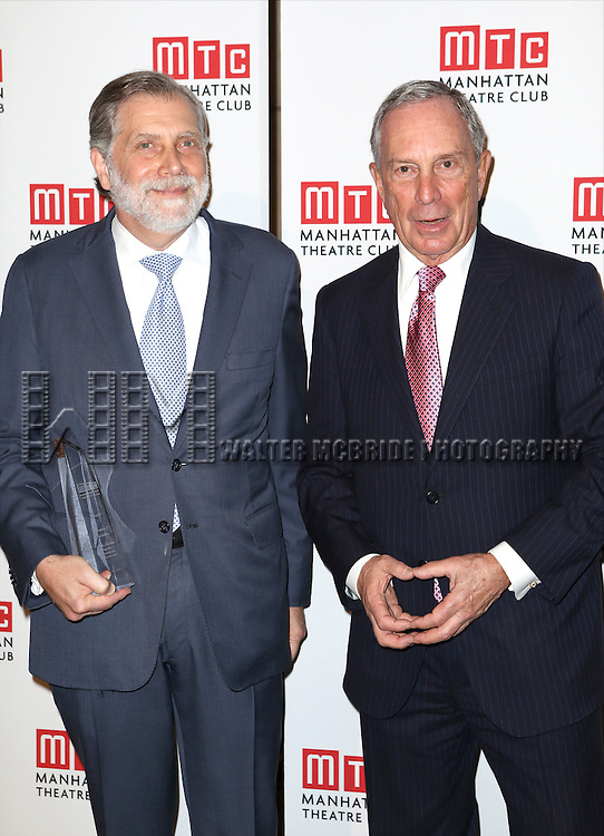Tom Secunda and Michael Bloomberg attending the Manhattan Theatre Club's 2014 Spring Gala at Cipriani 42nd Street on May 19, 2014 in New York City.