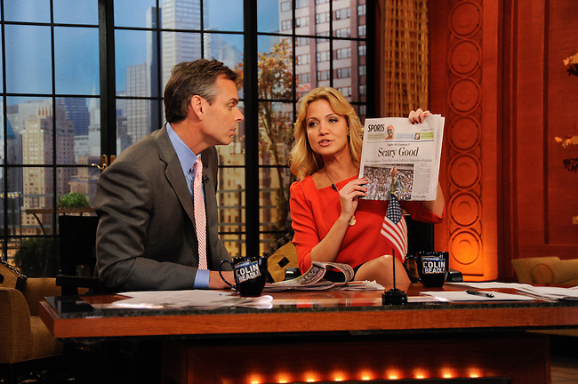 "ESPN - ""Sportsnation"" visits the ""Live with Regis and Kelly"" set, 10/31/11..(ESPN/ Donna Svennevik)"