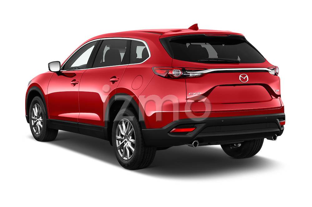 Car pictures of rear three quarter view of 2018 Mazda CX-9 Touring-FWD 5 Door SUV Angular Rear