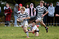 Angus Faulks in action during the Otago 1st XV secondary schools rugby union match between John McGlashan College and Otago Boys' High School at John McGlashan College in Dunedin, New Zealand on Saturday, 4 July 2020. Photo: Joe Allison / lintottphoto.co.nz