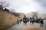 Rua de Sant Antoni Abat de Sant Cugat del Valles, o Rua des Tres Tombs, an annual parade of horses and traditional carts, carriages and lifestyles