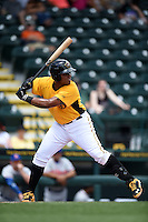 Bradenton Marauders first baseman Edwin Espinal (14) at bat during a game against the St. Lucie Mets on April 12, 2015 at McKechnie Field in Bradenton, Florida.  Bradenton defeated St. Lucie 7-5.  (Mike Janes/Four Seam Images)