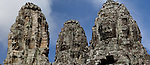 Close up of Angkor Wat historical site ruines