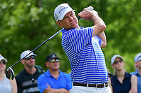 Davis Love III (USA) watches his tee shot on 11 during round 3 of the Shell Houston Open, Golf Club of Houston, Houston, Texas, USA. 4/1/2017.<br /> Picture: Golffile | Ken Murray<br /> <br /> <br /> All photo usage must carry mandatory copyright credit (&copy; Golffile | Ken Murray)