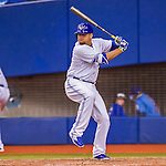 2 April 2016: The Toronto Blue Jays designated hitter Rowdy Tellez in action during a pre-season exhibition game against the Boston Red Sox at Olympic Stadium in Montreal, Quebec, Canada. The Red Sox defeated the Blue Jays 7-4 in the second of two MLB weekend games, which saw a two-game series attendance of 106,102 at the former home on the Montreal Expos. Mandatory Credit: Ed Wolfstein Photo *** RAW (NEF) Image File Available ***