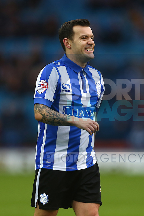 Wednesday's Ross Wallace grimaces as his shot is tipped over - Sheffield Wednesday vs Derby County - Skybet Championship - Hillsborough - Sheffield - 06/12/2015 Pic Philip Oldham/SportImage