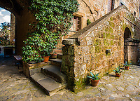 Civita Stairs with Planters
