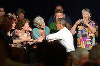 WEST PALM BEACH, FL - JULY 19: U.S. President Barack Obama delivers remarks to seniors at Century Village on July 19, 2012 in West Palm Beach, Florida. &copy;&nbsp;mpi04/MediaPunch Inc. /*NORTEPHOTO.com*<br /> **SOLO*VENTA*EN*MEXICO**<br />  **CREDITO*OBLIGATORIO** *No*Venta*A*Terceros*<br /> *No*Sale*So*third* ***No*Se*Permite*Hacer Archivo***No*Sale*So*third*&Acirc;&copy;Imagenes*con derechos*de*autor&Acirc;&copy;todos*reservados*
