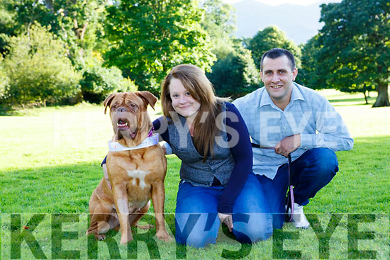 Sharon and Wayne Barron Kilgarvan with their dog which will respresent Kerry in the Nose of Tralee