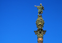 Spain. Barcelona. Columbus/Colon/Colomb/Colom monument.