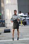 "Model wearing the Thomas Lavone Collection by Thomas Lavone at ""A Great Day In Harlem"" Urban Fashion Fusion Showcase, NY 7/25/10"