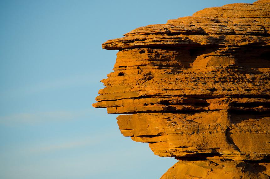 Rock Face at Devils Garden, Arches National Park, Utah, US