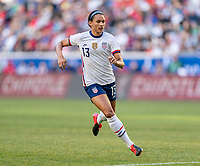 HARRISON, NJ - MARCH 08: Lynn Williams #13 of the United States sprints during a game between Spain and USWNT at Red Bull Arena on March 08, 2020 in Harrison, New Jersey.