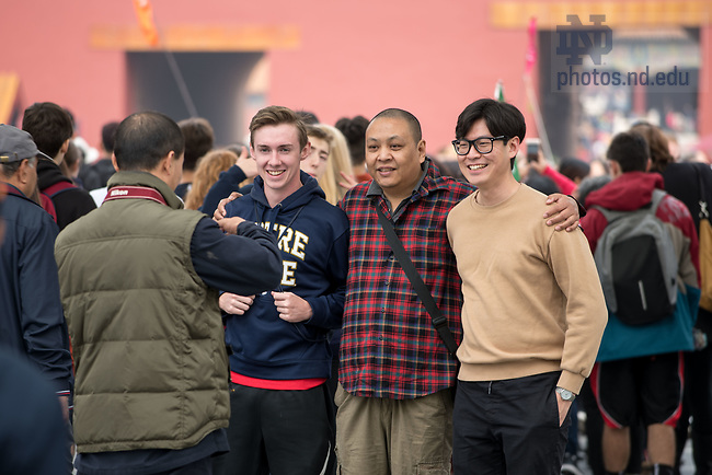 October 15, 2017; SIBC students on fall break in China (Photo by Matt Cashore/University of Notre Dame)