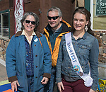 Suerae Irelan, Gordon Shaw and Snowfest Princess Bailey Shaw during Snowfest at North Lake Tahoe on Saturday, March 11, 2017.