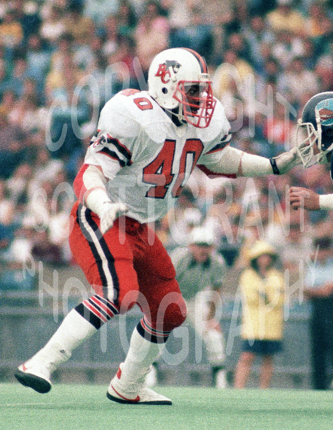 "James ""quick"" Parker BC Lions 1983. Copyright photograph Scott Grant/"
