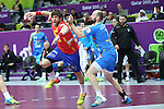 handball wordl cup match between Spain vs Slovenia. Anotnio Garcia . 2015/01/23. Doha. Qatar. Alberto de Isidro.Photocall 3000