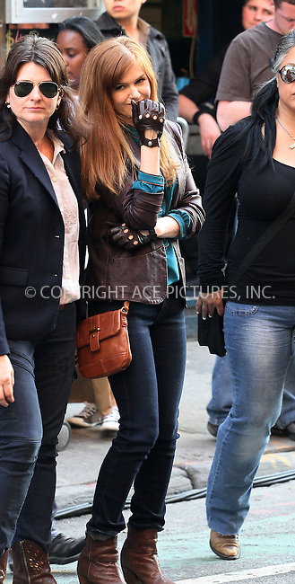 WWW.ACEPIXS.COM . . . . .  ....March 22 2012, New York City....Actress Isla Fisher on the set of the new movie 'Now You See It' on March 22 2012 in New York City....Please byline: Zelig Shaul - ACE PICTURES.... *** ***..Ace Pictures, Inc:  ..Philip Vaughan (212) 243-8787 or (646) 769 0430..e-mail: info@acepixs.com..web: http://www.acepixs.com