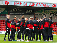 The Accrington Stanley team inspect the pitch before the match <br /> <br /> Photographer Alex Dodd/CameraSport<br /> <br /> The EFL Sky Bet League One - Fleetwood Town v Accrington Stanley - Saturday 15th September 2018  - Highbury Stadium - Fleetwood<br /> <br /> World Copyright &copy; 2018 CameraSport. All rights reserved. 43 Linden Ave. Countesthorpe. Leicester. England. LE8 5PG - Tel: +44 (0) 116 277 4147 - admin@camerasport.com - www.camerasport.com