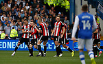 John Fleck of Sheffield Utd  celebrates scoring the first goal during the Championship match at the Hillsborough Stadium, Sheffield. Picture date 24th September 2017. Picture credit should read: Simon Bellis/Sportimage