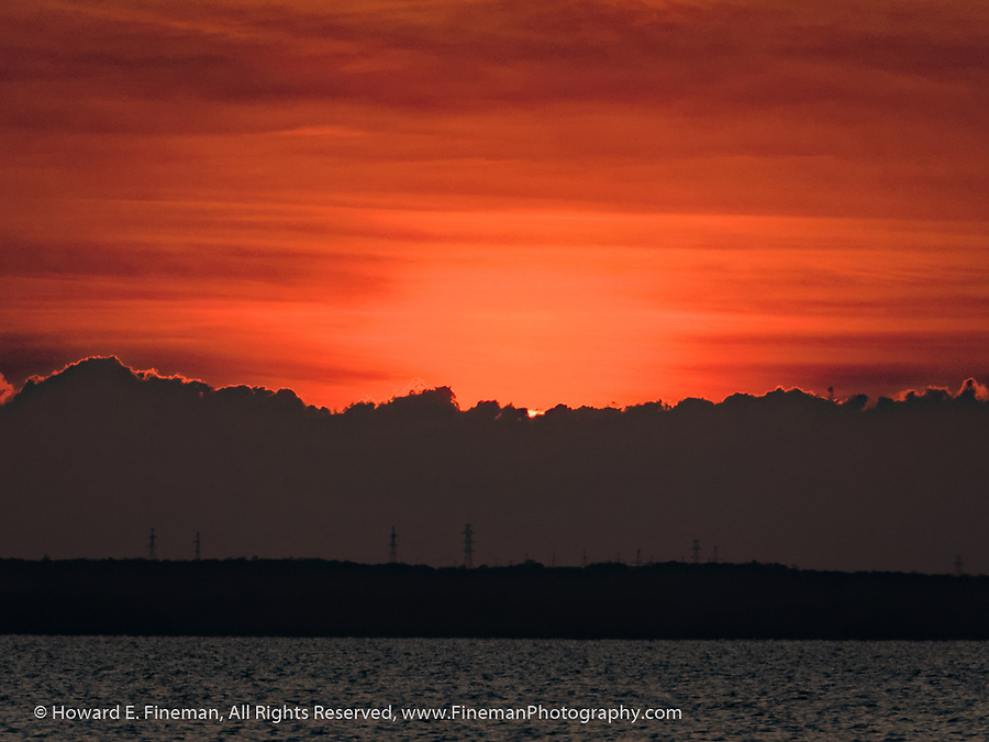 Sunset over Cienfuegos harbor, II