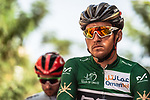 Green Jersey holder Greg Van Avermaet (BEL) BMC Racing Team ready for the start of Stage 6 of the 2018 Tour of Oman running 135.5km from Al Mouj Muscat to Matrah Cornich. 18th February 2018.<br /> Picture: ASO/Muscat Municipality/Kare Dehlie Thorstad | Cyclefile<br /> <br /> <br /> All photos usage must carry mandatory copyright credit (&copy; Cyclefile | ASO/Muscat Municipality/Kare Dehlie Thorstad)