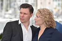 CANNES, FRANCE - MAY 11:  Eero Milonoff and actress Eva Melander at the photocall for 'Grans' during the 71st annual Cannes Film Festival at Palais des Festivals on May 11, 2018 in Cannes, France. <br /> CAP/PL<br /> &copy;Phil Loftus/Capital Pictures