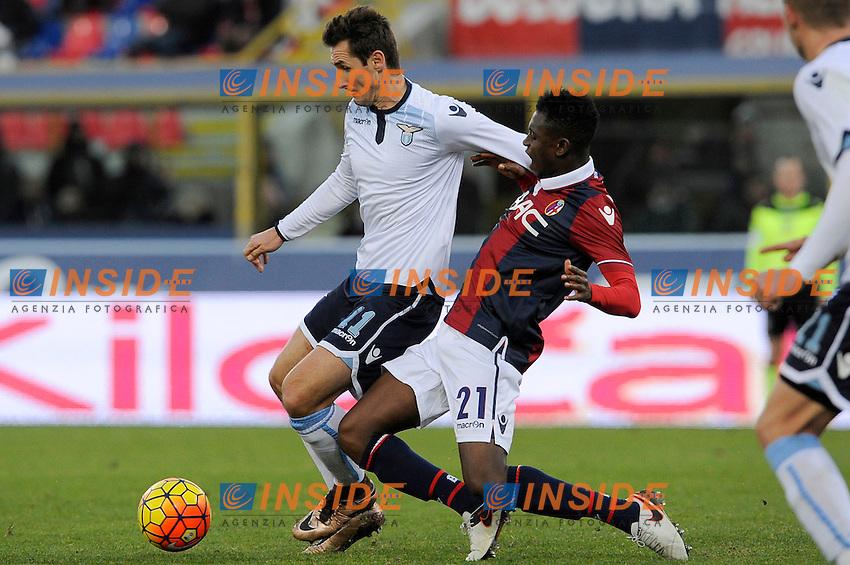 Miroslav Klose Lazio, Amadou Diawara Bologna <br /> Bologna 17-01-2016 Stadio Dall'Ara Football Calcio Serie A 2015/2016 Bologna - Lazio Foto Insidefoto
