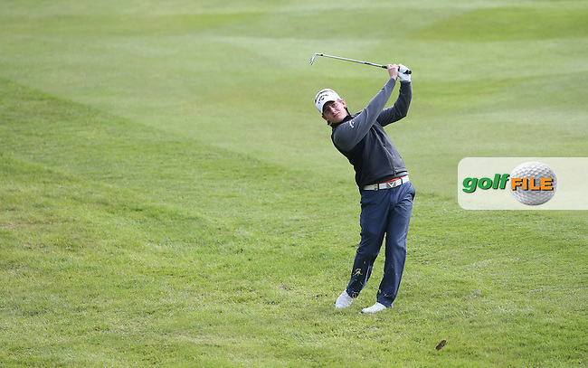 Emiliano Grillo (ARG) plays second shot to the 8th during Round Two of the 2015 BMW PGA Championship over the West Course at Wentworth, Virginia Water, London. 22/05/2015Picture David Lloyd, www.golffile.ie.