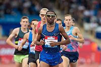Thiago DO ROSARIO ANDRE of Brazil leads the Emsley Carr Mile (1 Mile Men) during the Muller Grand Prix Birmingham Athletics at Alexandra Stadium, Birmingham, England on 20 August 2017. Photo by Andy Rowland.