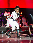 NEW ORLEANS, LA - JULY 4: Janelle Monae performs during the 2014 Essence Music Festival at the Mercedes-Benz Superdome on July 4, 2014 in New Orleans, Louisiana. Photo Credit: Morris Melvin / Retna Ltd.