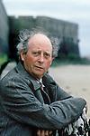 Irish author John McGahern (1934-2006) attending book fair in Saint-Malo, France in 1996.