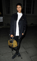 "Zawe Ashton<br /> The ""Barking In Essex"" press night afterparty, The Crypt, St Martin-in-the-Fields Church, Charing Cross Rd., London, England.<br /> September 16th, 2013<br /> full length black coat jacket white top leather trousers green bag<br /> CAP/CAN<br /> ©Can Nguyen/Capital Pictures"