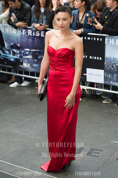 "Leah Weller arriving for European premiere of ""The Dark Knight Rises"" at the Odeon Leicester Square, London. 18/07/2012 Picture by: Simon Burchell / Featureflash"