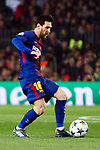 UEFA Champions League 2017/2018.<br /> Round of 16 2nd leg.<br /> FC Barcelona vs Chelsea FC: 3-0.<br /> Lionel Messi.