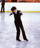 Brian Orser Canadian figure skater practices figures at the 1985 Canadian Championships in Moncton, Canada. Photo copyright Scott Grant
