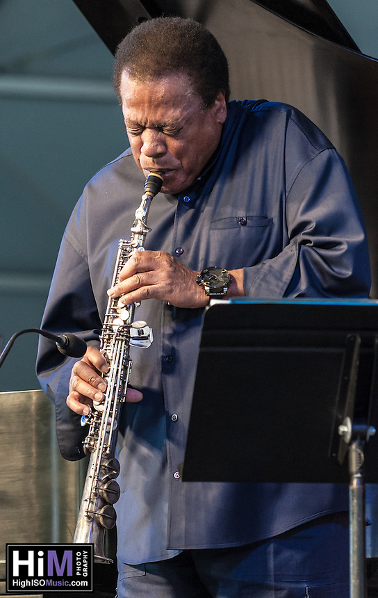 The Wayne Shorter Quartet, featuring Damilo Perez, John Patitucci, and Brian Blade, perform at the 2013 Jazz and Heritage Festival in New Orleans, LA on May 5, 2013.  © HIGH ISO Music, LLC / Retna, Ltd.