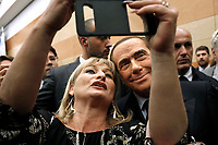 Silvio Berlusconi takes a selfie with a supporter<br /> Rome December 7th 2018. Convention of Forza Italia center-right party.<br /> Foto Samantha Zucchi Insidefoto