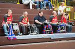 Bensheim, Germany, May 17: Fans of SG BBM Bietigheim during the match between HSG Bensheim/Auerbach and SG BBM Bietigheim in the HBF 1. Bundesliga Damen Saison 2013/2014  on  May 17, 2014 at Weststadthalle Bensheim in Bensheim, Germany. Final score 21:26 (11:16) (Photo by Dirk Markgraf / www.265-images.com) *** Local caption *** *** Local  caption ***