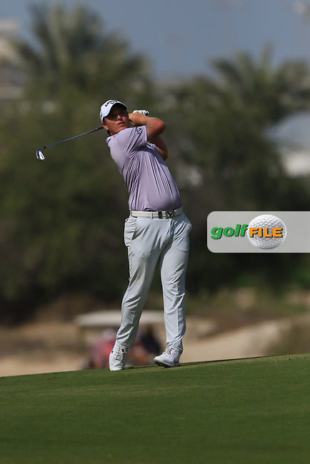 Callum Shinkwin (ENG) on the 3rd during Round 3 of the Omega Dubai Desert Classic, Emirates Golf Club, Dubai,  United Arab Emirates. 26/01/2019<br /> Picture: Golffile | Thos Caffrey<br /> <br /> <br /> All photo usage must carry mandatory copyright credit (&copy; Golffile | Thos Caffrey)