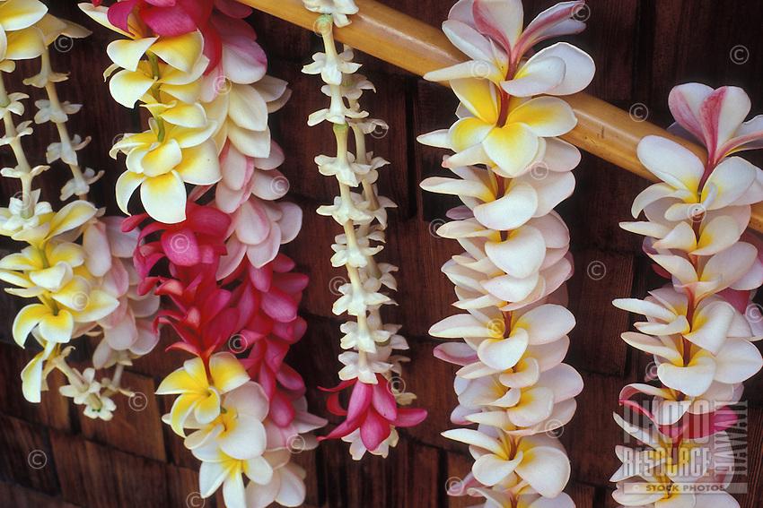 Plumeria leis, a beautiful and fragrant Hawaiian tradition